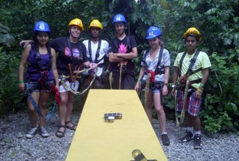Zip Lining in Guatemala
