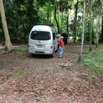 HSU 2012 in the magic bus at Tikal